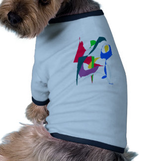 Abstract Art Ringer Dog Shirt