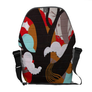 Abstract Art Elephant and Tree Commuter Bag