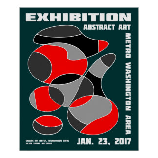 Abstract Art Exhibition Poster #1