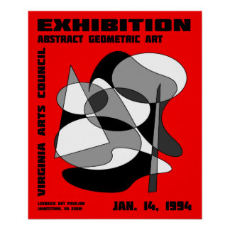 Abstract Art Exhibition Poster #3