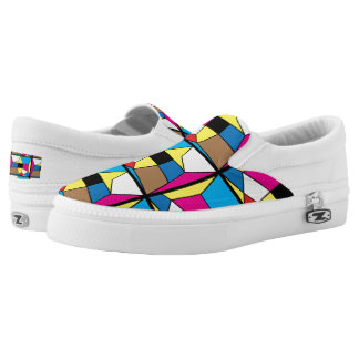 Abstract Art-Faces Women/Men Slip On Printed Shoes