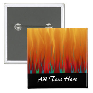 Abstract Art - Fire - Background Flames 15 Cm Square Badge
