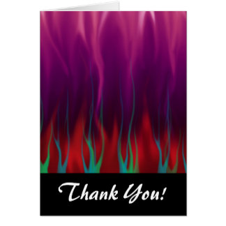 Abstract Art - Fire - Flames Card