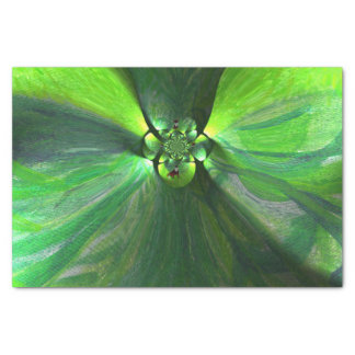 Abstract Art Foxes Green Leaves Tissue Paper