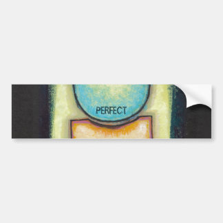 Abstract art fun blue circle painting your words bumper sticker