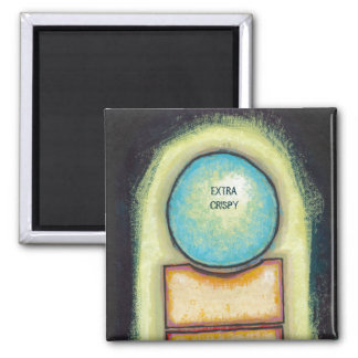 Abstract art fun blue circle painting your words magnet
