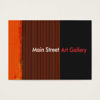 Abstract Art Gallery Striped Patterns Business Card