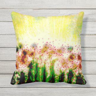 Abstract Art Garden Landscape Throw Pillow