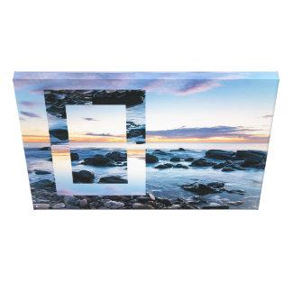 Abstract Art – Geometric Sunset, South Australia Canvas Print