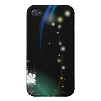 Abstract Art - Glitters and Flowers iPhone 4/4S Cases