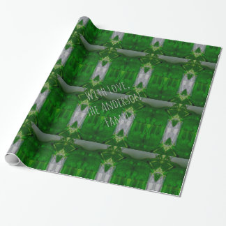Abstract Art Green Geometric Pattern Elegant Wrapping Paper