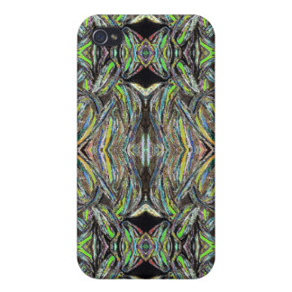 Abstract Art Green Symmetrical Design iPhone 4/4S Cover