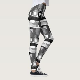 Abstract Art Grey Scale Leggings