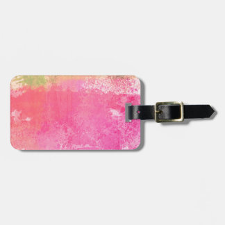 Abstract Art Grunge Watercolor Print Luggage Tag