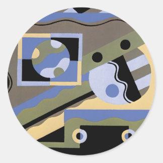 Abstract Art in Geometrics Classic Round Sticker