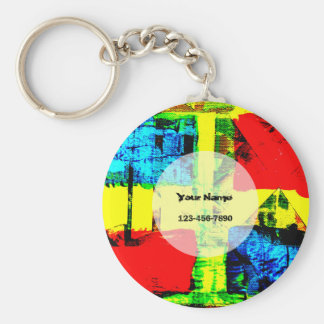 Abstract Art Key Ring