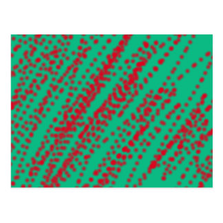 abstract art mint color with splashing red jam postcard