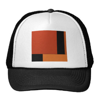 Abstract Art Modern Black Orange Retro Halloween Trucker Hat