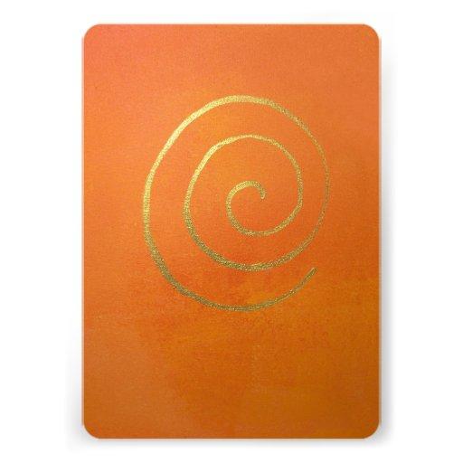 Abstract Art Modern Colors Orange Gold Swirl Whirl Card