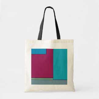 Abstract Art Modern Geometric Color Fields Retro Tote Bags