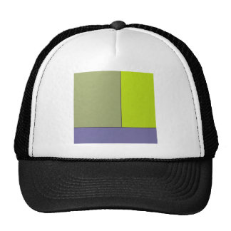 Abstract Art Modern Geometric Color Fields Retro Mesh Hats