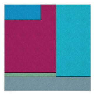 Abstract Art Modern Geometric Color Fields Retro Art Photo