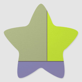 Abstract Art Modern Geometric Color Fields Retro Star Sticker