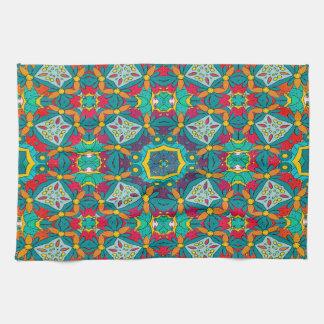 Abstract Art Mosaic Pattern Kitchen Towel