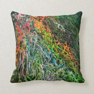 "Abstract Art ""Mossy"" Throw Pillow"
