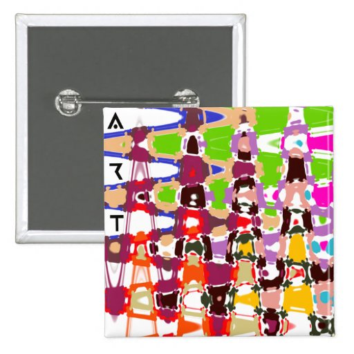 Abstract Art - multicolored triangles & shapes Buttons