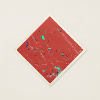 Abstract Art Paint Splashes and Spots Disposable Serviette