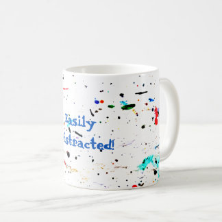 Abstract Art Paint Splashes and Spotty Coffee Mug