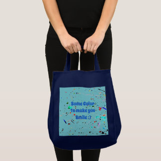 Abstract Art Paint Splashes and Spotty Tote Bag