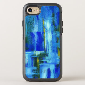Abstract Art Painting Blue Green Gold Brushstrokes OtterBox Symmetry iPhone 8/7 Case