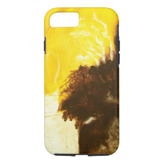 Abstract Art Painting Drips Splatters Yellow Brown iPhone 8/7 Case