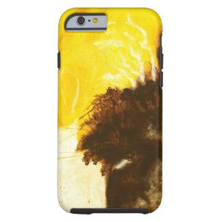 Abstract Art Painting Drips Splatters Yellow Brown Tough iPhone 6 Case