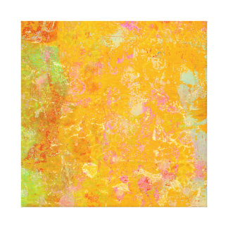 Abstract Art Painting Orange Yellow Pink Red Green Canvas Print