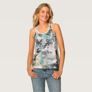 Abstract Art Painting Singlet
