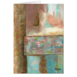 Abstract Art Pastel Painting Fantasy Castle Window Card