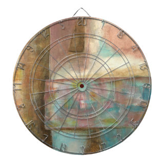 Abstract Art Pastel Painting Fantasy Castle Window Dartboard