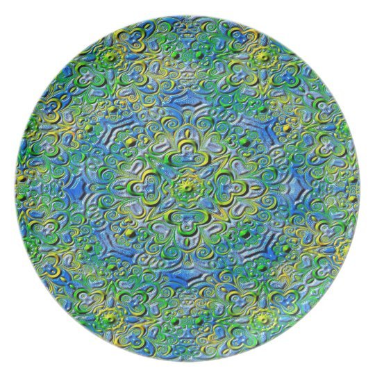 Abstract Art Patterns Plate
