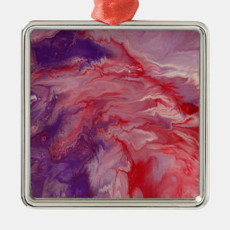 """Abstract Art Premium Square Ornament """"Frenzied"""""""