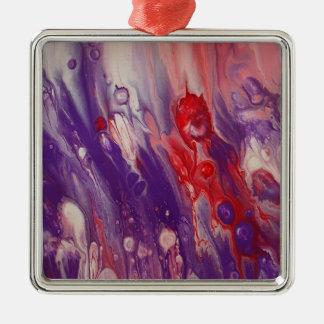 "Abstract Art Premium Square Ornament ""Noble"""