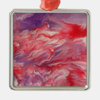 "Abstract Art Premium Square Ornament ""Royal"""