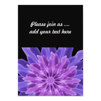 Abstract Art Purple Flower Card