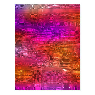 Abstract Art, Purple Orange Pink Postcard