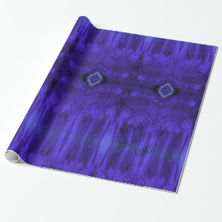 Abstract Art Purple Paint Wrapping Paper