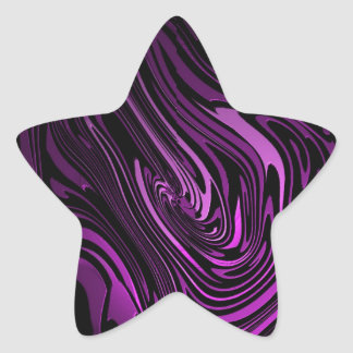 Abstract Art Purple Swirls Star Sticker