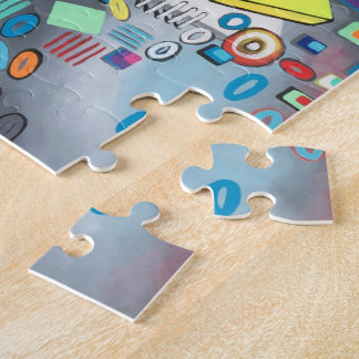 """Abstract Art Puzzles & Games """"Pool Day"""""""