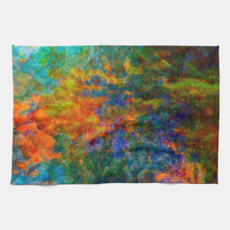 Abstract Art Rainbow Colors Hand Towels